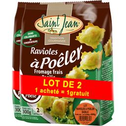 Ravioles à poêler fromage frais basilic
