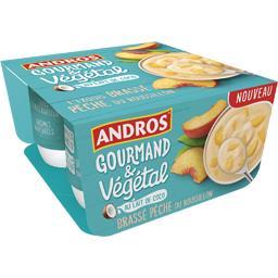 Andros Gourmand & Végétal - Brassé pêche du Roussillon lait... les 4 pots de 100 g
