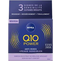 Nivea Anti-rides + peaux sensibles Q10 Power sans parfum