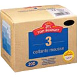 Collants mousse - 20D - noir T4