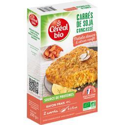 Carrés de soja concassé patate douce & citron confit BIO