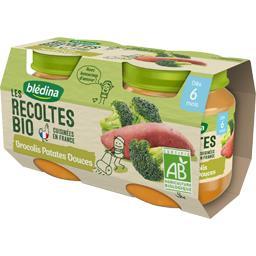 Les Récoltes BIO - Brocolis patates douces BIO, dès 6 mois