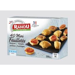 Mini feuilletés saumon/tomate/jambon/fromages