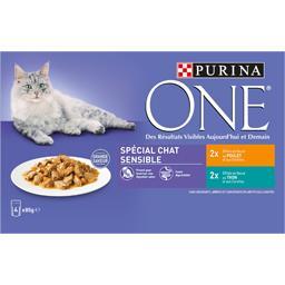 One - Effilés en sauce au poulet thon pour chat sens...
