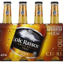 Cidre breton doux, les 4 bouteilles de 27,LOIC RAISON,les 4 bouteilles de 27,5 cl