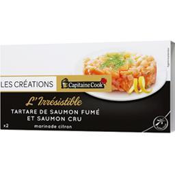 L'Inimitable tartares de saumon cru