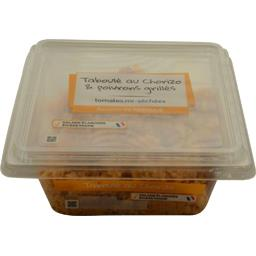 Taboulé au chorizo & poivrons grillés