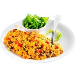 Boulgour et quinoa cuisinés aux petits légumes BIO