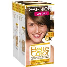 Belle color châtain clair doré, coloration permanente