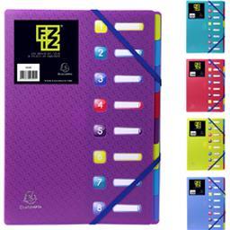 Exacompta Trieur à soufflets 8 positions 250x230 coloris assor...