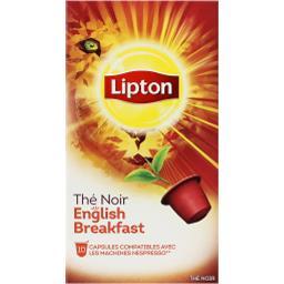 Lipton Thé noir English Breakfast la boite de 10 - 18 g