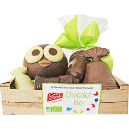 Le Tech Le Poussin dans sa cagette chocolat BIO la cagette de 170 g