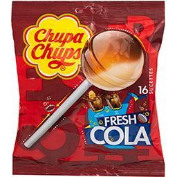 Sucettes Fresh Cola aux goûts assortis