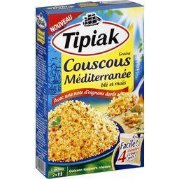 Tipiak Graine couscous méditerranée blé et maïs les 2 sachets de 120 g