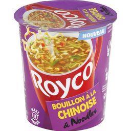 Bouillon à la chinoise et noodles