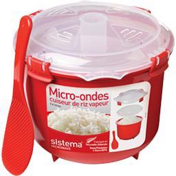 Cuiseur de riz vapeur micro-ondes à clips 2,6 L