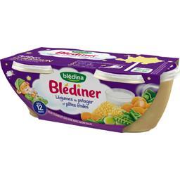 Blédîner - Légumes du potager et pâtes étoiles, dès ...