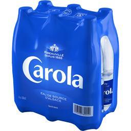 Bleu, eau de source d'Alsace nature, ma préférence, 6 x ,CAROLA,