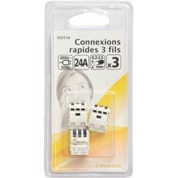 Connexions rapides 3 fils 450V-50Hz 24A