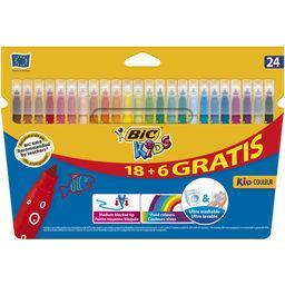 Feutres de coloriage bic kid couleur pointe moyenne