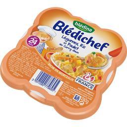 Blédichef - Légumes, riz et poulet au curry doux, dè...