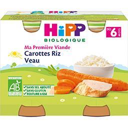 Ma Première Viande - Carottes riz veau BIO, dès 6 mo...