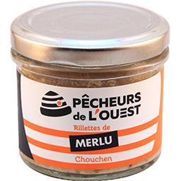 Pêcheurs de l'Ouest Rillettes de merlu Chouchen le pot de 90 g