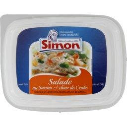 Salade au surimi et au crabe