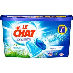 Le Chat Duo Bulles - Doses de lessive liquide Souffle de fra...