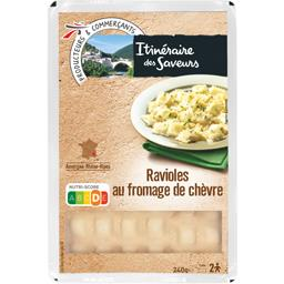 Ravioles au fromage de chèvre de la Drôme et fines h...
