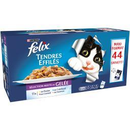 Tendres effilés en gelée viandes & poisson pour chat...