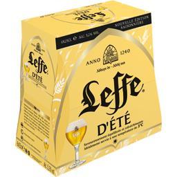Leffe Bière d'été les 6 bouteilles de 25 cl