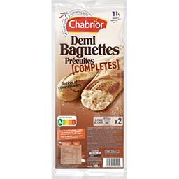 Chabrior Demi baguettes complètes précuites les 2 demi baguettes de 150 g