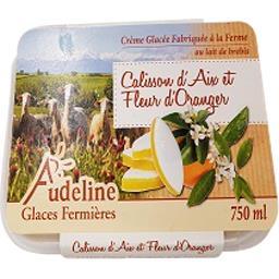 Audeline Crème glacée aux calissous d'aix et à la fleur d'or... Le bac de 750 ml