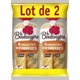 Baguettes viennoises à la farine complète