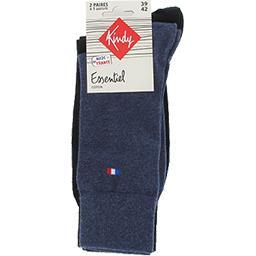 Chaussettes Essentiel coton 39-42 jean/noir
