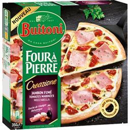 Buitoni Four à Pierre - Pizza Creazione jambon fumé tomates ... la boite de 350 g