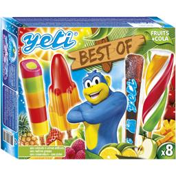 Assortiment de glaces Best Of fruits & cola