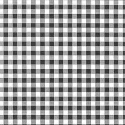 Serviettes 3 plis 33x33 cm noir Vichy