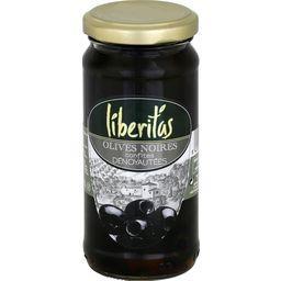 Liberitas Olives noires confites dénoyautées le bocal de 110 g net égoutté