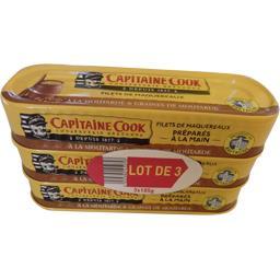 Capitaine Cook Filets de maquereaux à la moutarde et graines de mou... les 3 boites de 185 g
