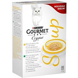 Purina Gourmet - Bouillon poulet Crystal Soup les 4 sachets de 40 g