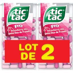 Tic Tac Bonbons duo de fraises les 2 boites de 110 pastilles - 108 g