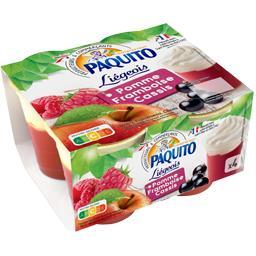 Liégeois - Spécialité de fruits pomme framboise cass...