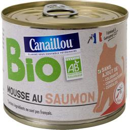 Mousse au saumon BIO pour chat