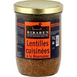 Lentilles cuisinés à la Béarnaise
