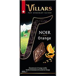 Villars Villars Chocolat noir orange