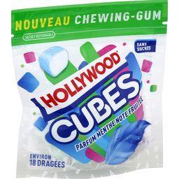 Hollywood Cubes - Chewing-gum menthe note fruitée sans sucres