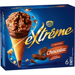 Nestlé Extrême L'Original - Cônes chocolat pépites de nougatine