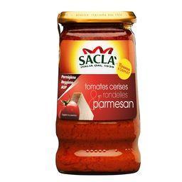 Sauce tomates cerises en rondelles & parmesan